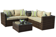 PAS-1408/Detachable Outdoor PE Wicker Furniture Sofa Set with Cushion Box