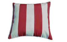 Pillow-5/Red and White Striped Square Throw Pillow