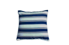 Pillow-9/Blue and and White Striped Square Throw Pillow