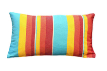 Cushion-1/Colorful Striped Rectangular Back Cushion