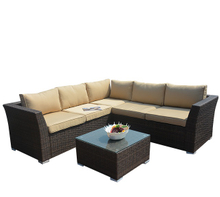 PAS-1506/4PC Detachable Outdoor Park and Garden Sectional Sofa Set