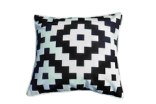 Pillow-4/White and Black Decorative Square Throw Pillow