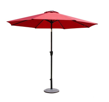 PLU-001-R/Red LED Garden Market Umbrella