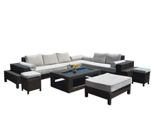 PAS-1652/Outdoor Modular Furniture Big Lots Garden Patio Rattan Sofa Set