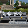 Apartment Garden Patio Aluminum Frame Corner Sofa Set