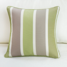 Green Striped Scattered Square Pillow Case