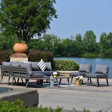 Garden Patio Aluminum Teak Painted Color Frame Sofa Set Corner Furniture